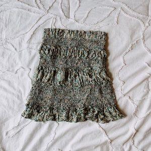 Princess Polly green floral skirt